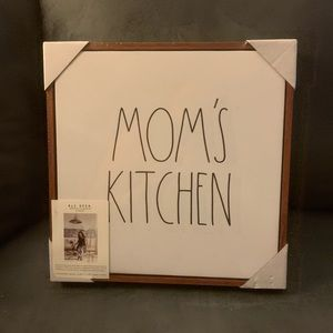 Rae Dunn sign Moms Kitchen